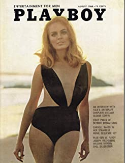 PLAYBOY US 1968 08 AUGUST INTERVIEW WILLIAM SLOANE COFFIN CARROLL BAKER PIN UP VARGAS PLAYMATE GALE OLSON Single Issue Magazine – July 31, 1968