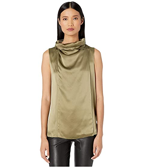 Adam Lippes Silk Charmeuse Cowl Neck Shell