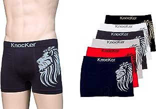 Lot of 6, 12 Men Seamless Boxer Briefs Knocker Microfiber Underwear Free Size