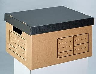 オフィス・デポ ストレージボックス フタ載せタイプ A4サイズ用 クラフト 10個パック