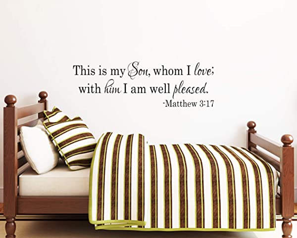 Best Design Amazing Nursery Decor Bible Verse Decal Matthew 3 17 Christian Nursery Nursery Wall Art Girls Room Personalized Wall Decal Baby Scripture Decal Made In USA