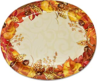 50 Count Thanksgiving Oval Plates 10