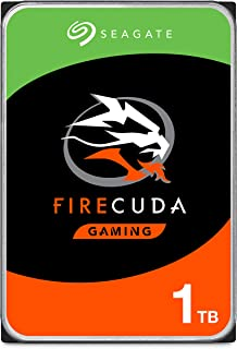 Seagate 1TB FireCuda Gaming SSHD (Solid State Hybrid Drive) - 7200 RPM SATA 6Gb/s 64MB Cache 3.5-Inch Hard Drive (ST1000DX...