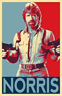 Art print POSTER Canvas Chuck Norris Jumping Rope