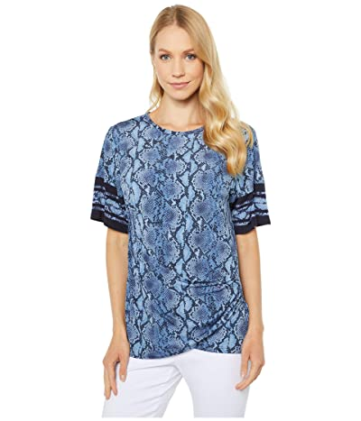 MICHAEL Michael Kors Snake Border Tie Shirt (Chambray) Women