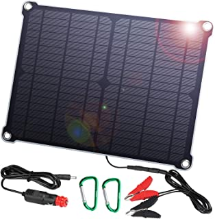 SUAOKI 12V Solar Car Battery Charger, 16W Trickle Solar Panel Charger, Portable and..