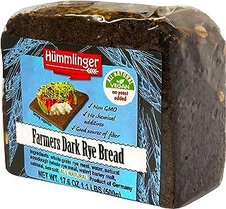 Farmers Dark Rye Bread Yeast Free Hummlinger, No Yeast Added 17.6 oz (6 packages)