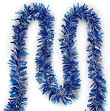 """Super Holiday 4"""" Tinsel Twist Garland, 30Ft Artifical Garland for Christmas Tree, Perfect Decoration for Holiday Wendding ..."""