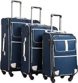 Luggage 3 Piece Set Suitcase Expandable TSA lock pinner softshell