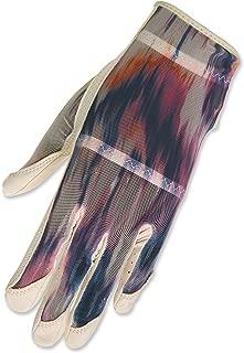HJ Glove Women's Left Hand Solaire Full Length Golf Glove, Medium, Cream Waves