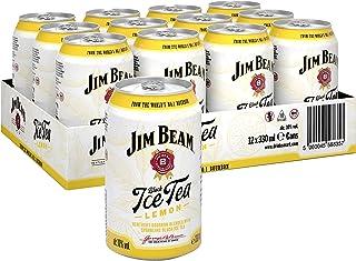 Jim Beam Ice Tea Bourbon Whiskey Dose, eine perfekte Mischung, 10% Vol, 12 x 0,33l Einweg