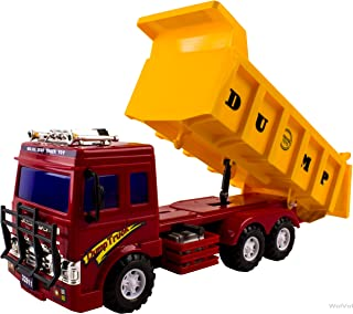 WolVol Big Dump Truck Toy for Kids - Solid Plastic Heavy Equipment Vehicle Toy - Ideal Gift Idea for Kids Boys & Girls (Heavy Duty)
