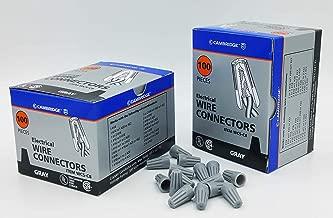 Cambridge Screw On Wire Connectors Gray 100 Pieces per Box Contains 2 Boxes 200 Pieces Total