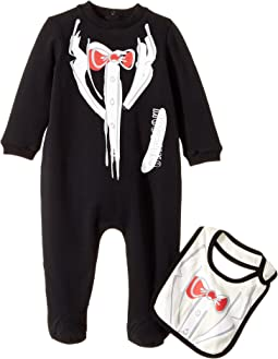 Moschino Kids - Tuxedo Romper & Bib Gift Box Set (Infant)