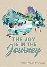 Camping Journal & RV Travel Logbook, Blue Vintage Camper Journey (Caravanning Campsite Log Books)