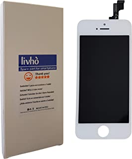 LIVHÒ® Pantalla Blanco Compatible con iPhone 5S / Display LCD Retina y Vidrio Tactil