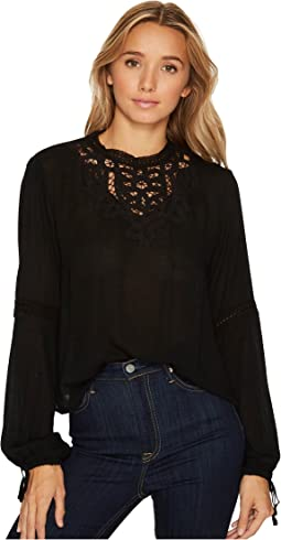 Brigitte Bailey - Alannah Long Sleeve Top with Lace Detail