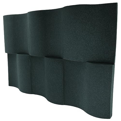 "Foamily 6 Pack - Decorative Acoustic Panels Studio Foam Waves 2"" X 12"" X 12"""