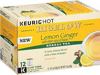 Sponsored Ad - Bigelow Tea Lemon Ginger Keurig K-Cups, 12 Count (Pack Of 6), 72 K-Cups Total
