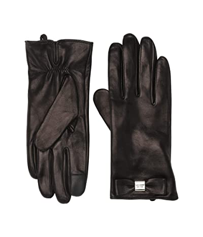 Kate Spade New York Leather Bow Gloves (Black) Gore-Tex Gloves