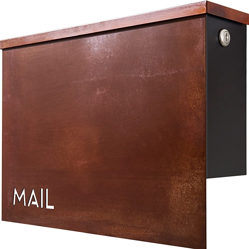 慣れている縮れた手がかりカバポスト ポスト 郵便受け アンティーク 錆風加工 鍵付き 壁掛け おしゃれ 郵便ポスト A4 鍵