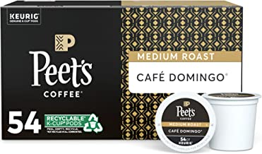 Peet's Coffee Café Domingo, Medium Roast, 54 Count Single Serve K-Cup Coffee Pods..