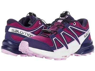 Salomon Kids Speedcross (Little Kid/Big Kid) (Plum Caspia/Evening Blue/Orchid) Kids Shoes