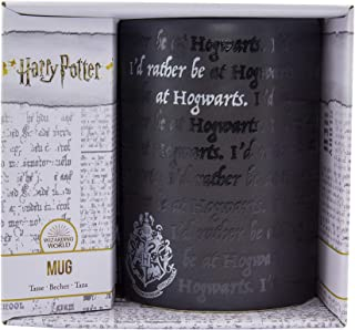 Paladone PP6724HP Rather Be at Hogwarts Mug-Officially Licensed Harry Potter Merchandise-325ml (11floz), Stoneware, 325 mi...
