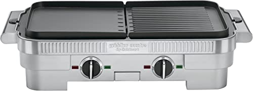 2021 Cuisinart high quality GR-55 Griddler Stainless new arrival Steel Nonstick Grill/Griddle Combo (Certified Refurbished) outlet online sale