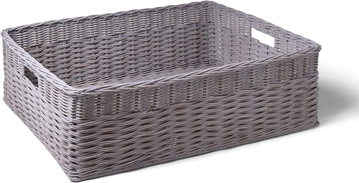 The Basket Lady Ombak Weave Storage New products, world's highest quality popular! Recommendation Wide Underbed Large
