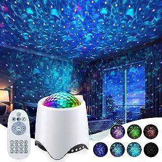 پروژکتور Galaxy Projector Star برای اتاق خواب - پروژکتور نور شب با بلندگوی موسیقی ، پروژکتور Skylight با تایمر و 14 جلوه رنگی ، پروژکتور سقف موج Ocean برای بزرگسالان دکور مهمانی