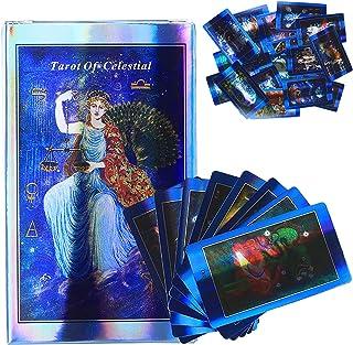 天体のタロット:家族の友達のパーティーのトランプ用の78PCSタロットカードテーブルボードゲーム(PDFガイド付き)