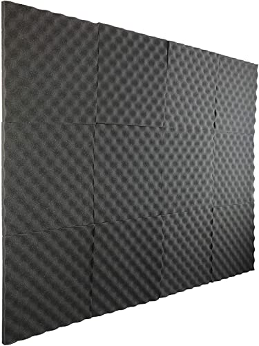 """high quality New Level 12 Pack- outlet online sale Acoustic Panels Studio Foam Egg Crate 1"""" X popular 12"""" X 12"""" outlet online sale"""