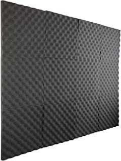 "New Level 12 Pack- Acoustic Panels Studio Foam Egg Crate 1"" X 12"" X 12"""