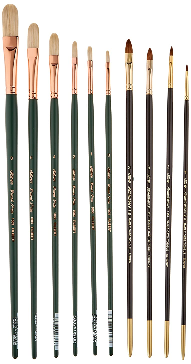 Silver Brush DG-7116 Daniel Greene NA Starter Brush Set, 10 Per Pack
