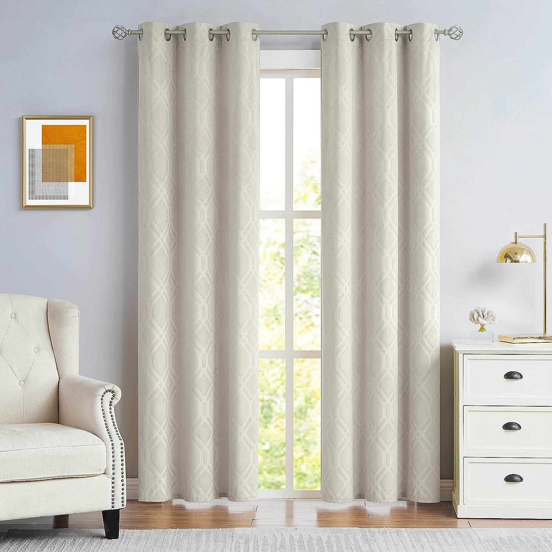 Nottingson Latest item Home Ivory Velvet Ranking TOP18 Curtains Inches Living for Long 108