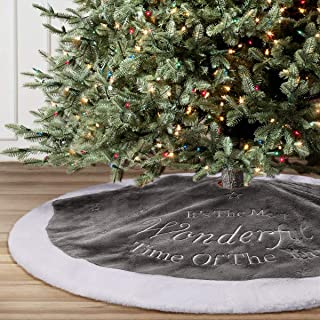 Best gray and white christmas tree skirt Reviews