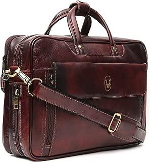 WildHorn Leather Brown 15.5 inch Men's Laptop Messenger Bag Dimension : L-15.56 inch W-4 inch H-11 inch