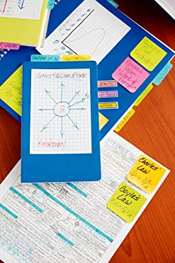 Post-it Super Sticky Notes, 4x6 in, 3 Pads, 2x the Sticking Power, White with Blue Grid Lines, Recyclable (660-SSGRID)