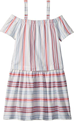 Striped Jersey Dress (Toddler/Little Kids/Big Kids)