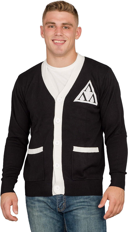 Revenge of the Nerds Tri Lambda Black with White Mens Costume Cardigan Sweater