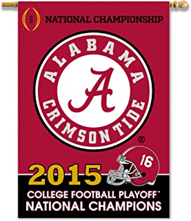 NCAA Alabama Crimson Tide College Football Champ 2-Sided 28 X 40 Banner,One Size,Team Color
