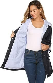 Rain Jacket Women Waterproof with Lined Raincoat Outdoor Active Travel Hiking
