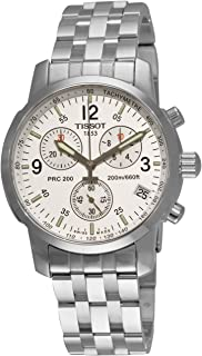 Men's T17158632 T-Sport PRC200 Chronograph Stainless Steel Silver Dial Watch