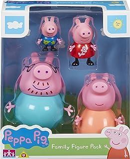 Peppa Pig Peppa Pig-6666 Pack 4 Figuras Multicolor 0 (6666)