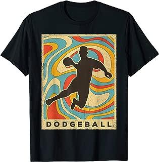 Vintage Dodgeball Sport Retro Poster Gift T-Shirt