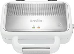 Breville VST074X VST074X-01 Jumbo-Sandwich-Broodrooster, Roestvrij Staal, Grijs en Wit