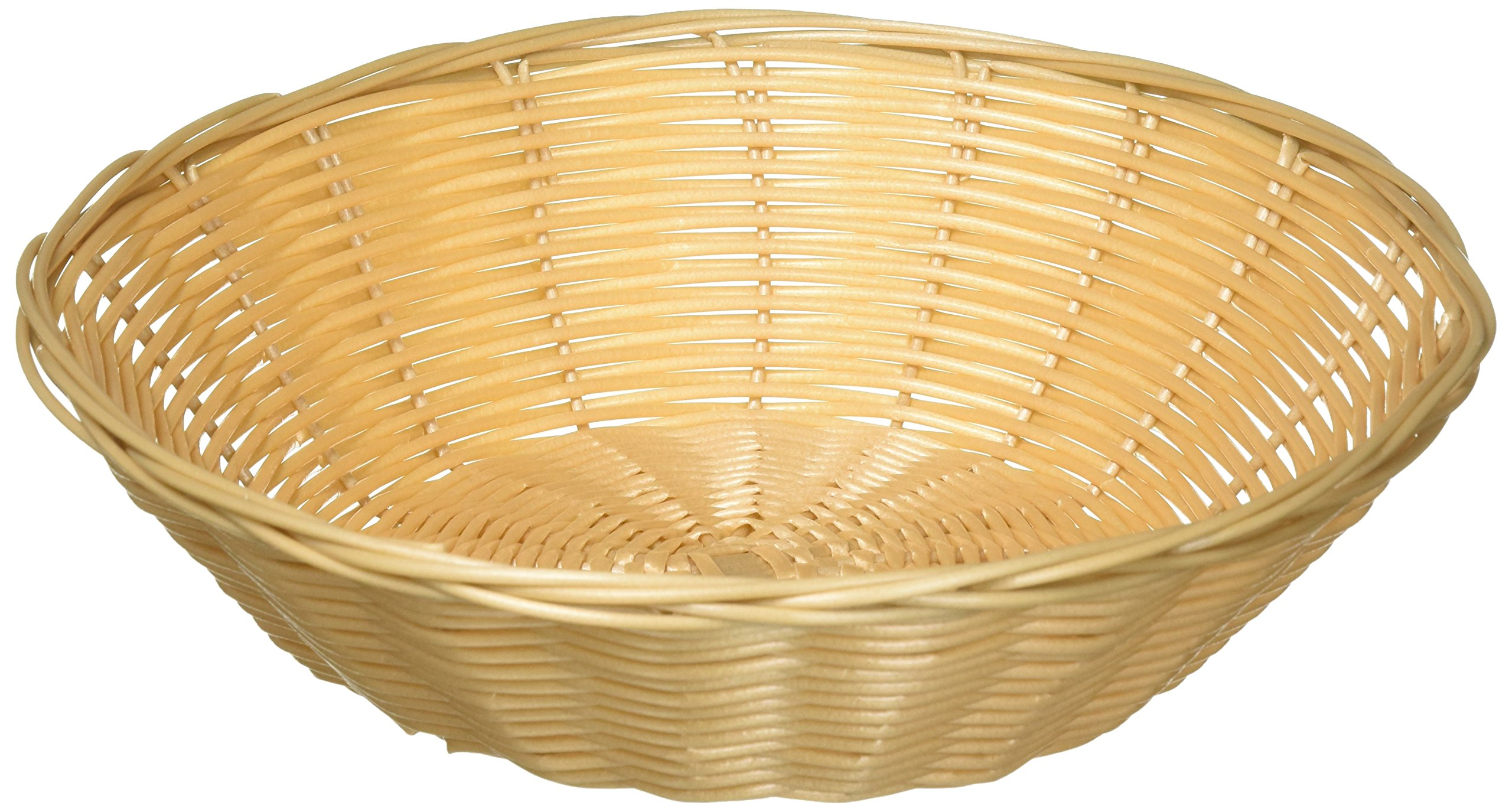 6-Piece Pack 9-Inch Natural Color Polypropylene Oblong Woven Snacks Bread Baskets Winco PWBN-94B