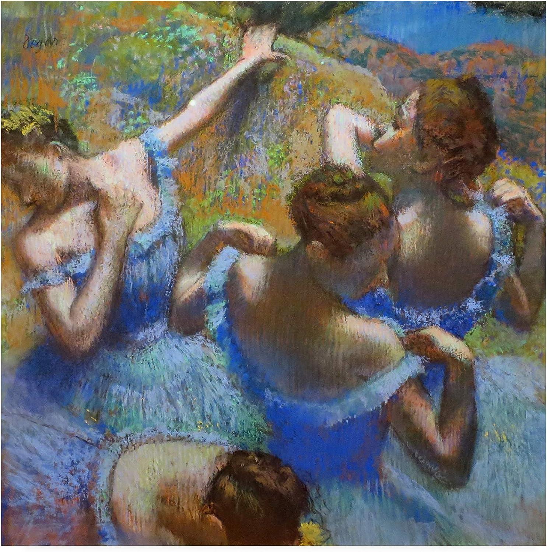 Trademark Fine Art IC01514-C1414GG Ballerine Dietro Le Quinte by Edgar Degas, 14x14, Multiple