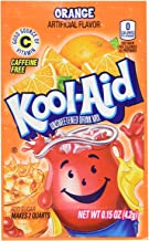 Kool-Aid Unsweetened Soft Drink Mix, Orange, 0.15 Ounce (Pack of 48)